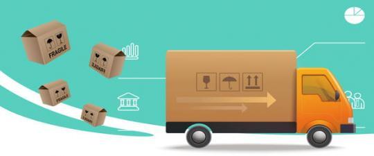 Brand Box Transportkosten Anlieferung mit Spedition