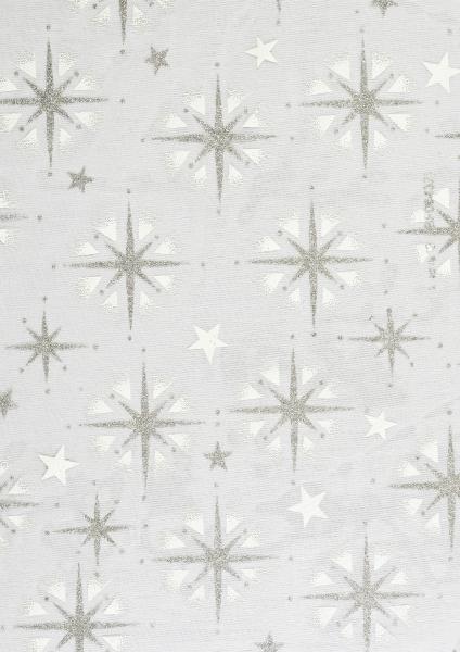 hobbywelt kreativshop creapop deko stoff 29 cm organza sterne silber wei basteln und n hen. Black Bedroom Furniture Sets. Home Design Ideas