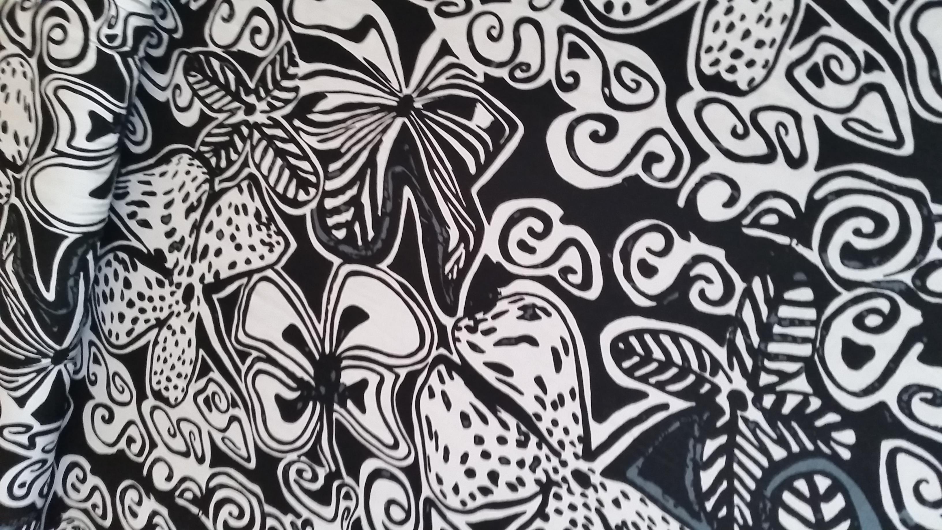 hobbywelt kreativshop stoff ornamente schwarz weiss basteln und n hen. Black Bedroom Furniture Sets. Home Design Ideas